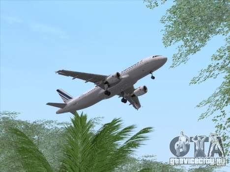 Airbus A320-211 Air France для GTA San Andreas вид сбоку