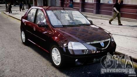Dacia Logan 2007 Prestige 1.6 для GTA 4 вид сбоку