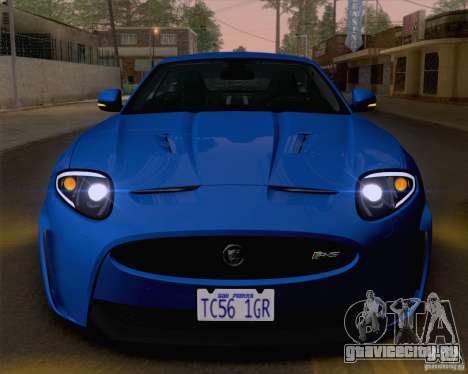 Jaguar XKR-S 2012 для GTA San Andreas вид сбоку