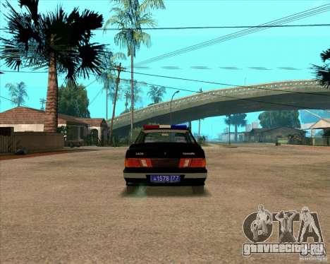 Ваз 2115 ДПС для GTA San Andreas вид справа