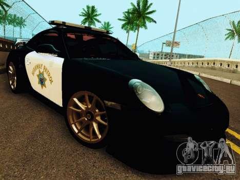 Porsche 911 GT2 RS (997) Police для GTA San Andreas вид слева