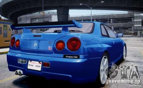 Nissan Skyline GT-R R34 Mspec для GTA 4 вид слева