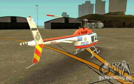 Bell 206 B Police texture2 для GTA San Andreas вид справа