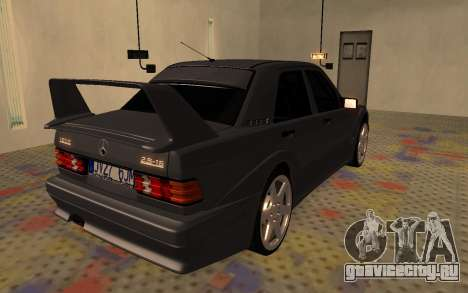 Mercedes-Benz 190E Evolution II 2.5 1990 для GTA San Andreas вид сзади слева