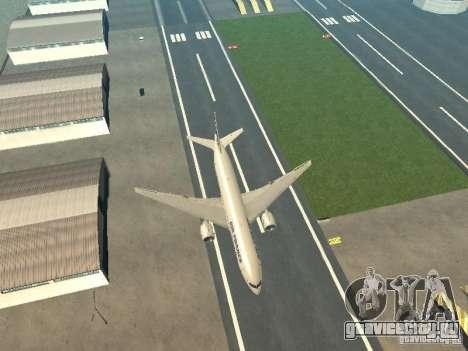 Boeing 777-200 Air France для GTA San Andreas вид изнутри