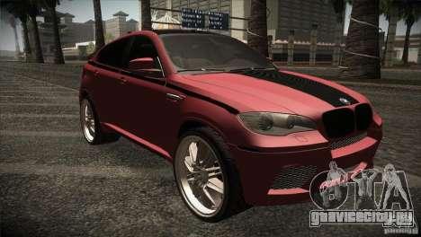 BMW X6 Lumma для GTA San Andreas вид изнутри