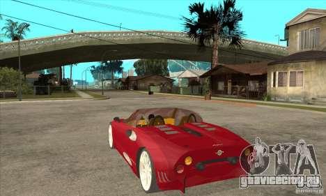 Spyker C8 Spyder для GTA San Andreas вид сзади слева