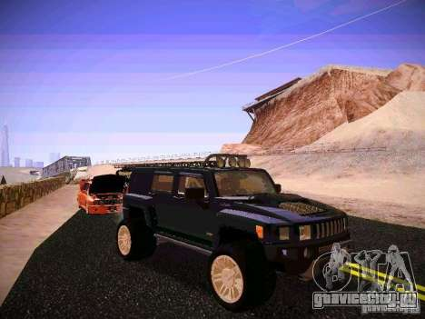 Hummer H3R для GTA San Andreas вид сзади