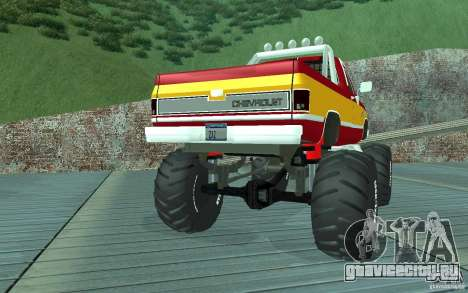 Chevrolet Silverado 2500 MonsterTruck 1986 для GTA San Andreas вид справа
