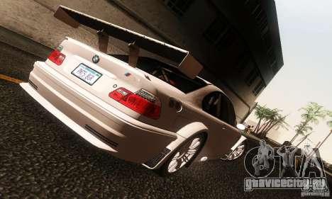 BMW M3 GTR v2.0 для GTA San Andreas вид слева