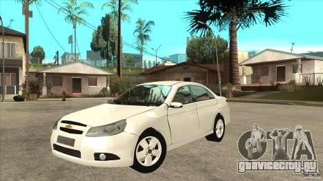 Chevrolet Epica 2008 для GTA San Andreas