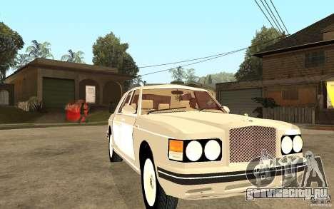 Bentley Turbo RT для GTA San Andreas вид сзади