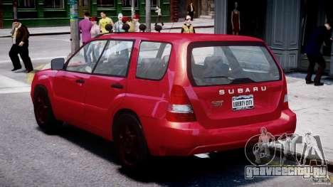 Subaru Forester v2.0 для GTA 4 вид справа