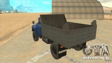 ЗиЛ-ММЗ 4502 Полноприводный для GTA San Andreas вид сзади слева