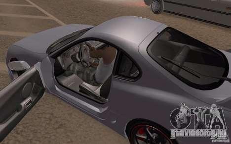 Toyota Supra Mark IV для GTA San Andreas вид изнутри