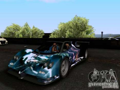 Pagani Zonda EX-R для GTA San Andreas вид сбоку