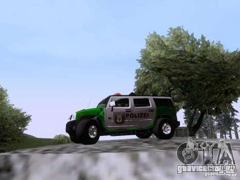 Hummer H2 Polizei для GTA San Andreas вид слева
