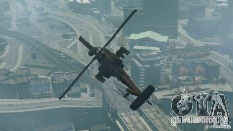 AH-64D Longbow Apache v1.0 для GTA 4 вид сзади слева