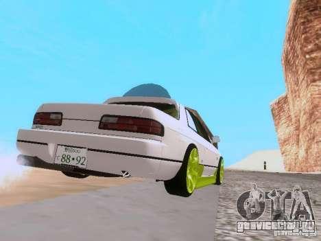 Nissan Silvia S13 Drift Style для GTA San Andreas вид сзади