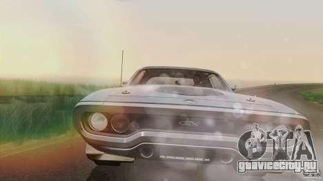 Plymouth GTX 426 HEMI 1971 для GTA San Andreas вид изнутри