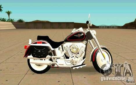 Harley Davidson FatBoy (Terminator 2) для GTA San Andreas вид слева