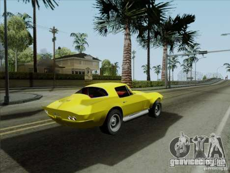 Chevrolet Corvette 1967 для GTA San Andreas вид сбоку