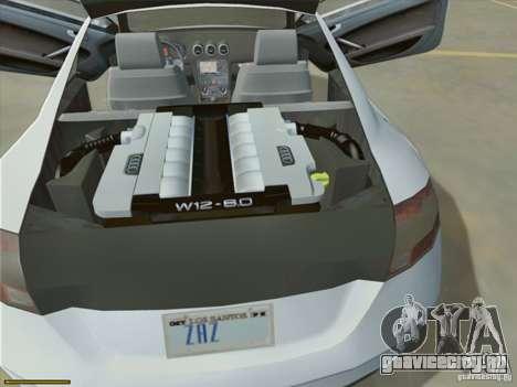Audi TT Custom для GTA San Andreas вид изнутри
