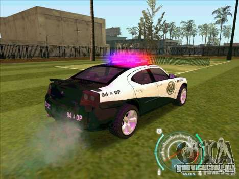 Dodge Charger Policia Civil from Fast Five для GTA San Andreas вид сзади слева