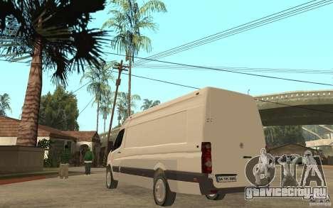 Volkswagen Crafter 2010 TDI для GTA San Andreas вид сзади слева
