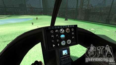 Black U.S. ARMY Helicopter v0.2 для GTA 4 вид сзади
