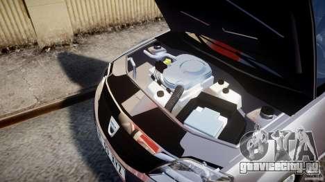 Dacia Logan v1.0 для GTA 4 вид сзади