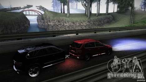 BMW X5 with Wagon BEAM Tuning для GTA San Andreas вид изнутри