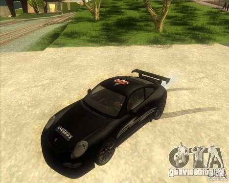 Porsche 997 GT3 RS для GTA San Andreas вид изнутри