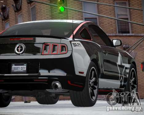 Ford Mustang Boss 302 для GTA 4 вид изнутри
