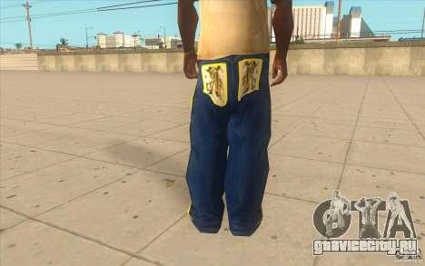 Karl Kan Puzzle Jeans для GTA San Andreas третий скриншот