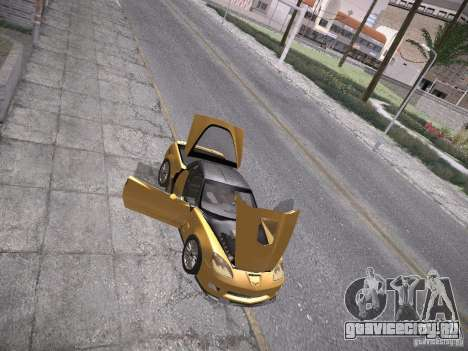 Chevrolet Corvette ZR1 для GTA San Andreas салон