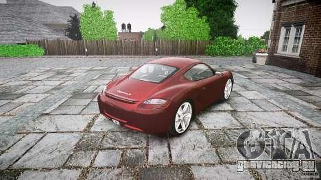 Porsche Cayman S v1 для GTA 4 вид сбоку