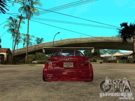 BMW M3 GTR Le Mans для GTA San Andreas
