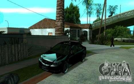 Toyota Vios для GTA San Andreas вид сзади