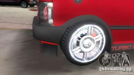 Fiat Uno Turbo для GTA Vice City вид сзади слева