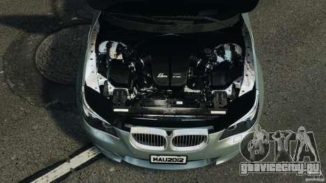 BMW M5 E60 2009 v2.0 для GTA 4 вид сверху
