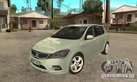 Kia Ceed 2011 для GTA San Andreas