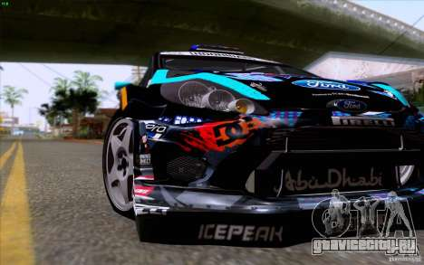 Ford Fiesta 2013 v2.0 для GTA San Andreas вид изнутри