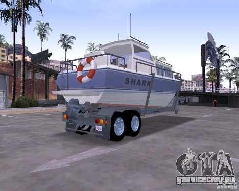 Boat Trailer для GTA San Andreas вид слева