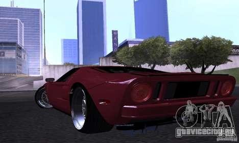 Ford GT 2005 для GTA San Andreas вид сверху