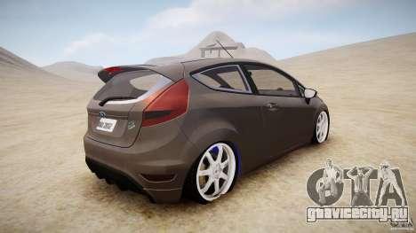 Ford Fiesta 2012 для GTA 4 вид сзади слева