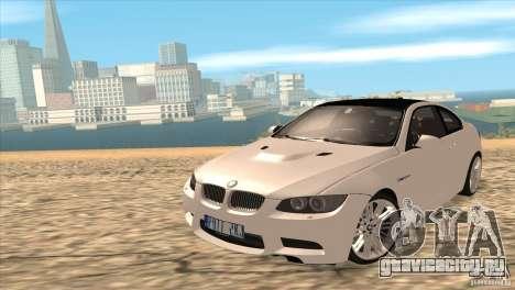 BMW M3 E92 для GTA San Andreas вид сзади слева