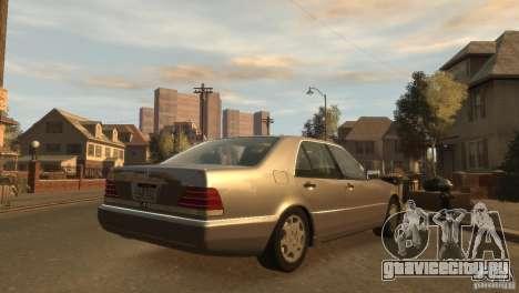 Mersedes-Benz 500SE Wheels 2 для GTA 4 вид слева