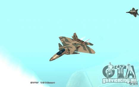 F/A-22 Velociraptor для GTA San Andreas вид слева