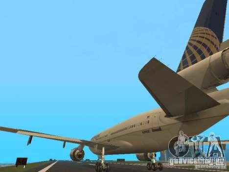 McDonell Douglas DC10 Continental Airlines для GTA San Andreas